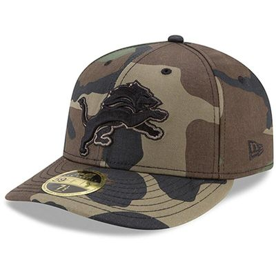 Detroit Lions New Era Woodland Camo Low Profile 59FIFTY Fitted Hat