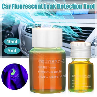 5 40ml Car Fluorescent Leak Detection Tool Air Conditioner Conditioning Refrigerant Gas A/C Leak Test Detector Fluorescent Agent