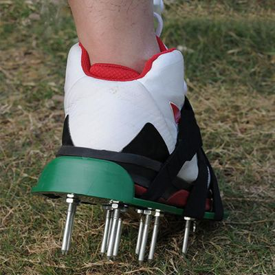 Garden Lawn Aerator Shoes Sandal Aerating Spike Grass Pair Green Spiked Tool Loose Soil Shoes Black Green