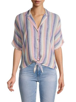 Rails Marley Stripe Tie-Front Camp Shirt