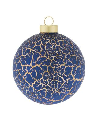 Kat & Annie Crackled Round Set Of 6 Ornaments