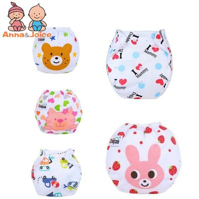 New 10pcs/Lot  Baby Diapers Washable Learning Pants  Cotton Training Pant girls and boys