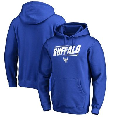 Buffalo Bulls Double Bar Pullover Hoodie - Royal