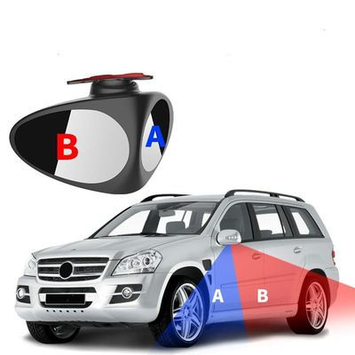 convex mirror 360° Rotatable 2 Side Car Blind Spot Convex Mirror Automibile Exterior Rear View Parking Mirror Safety Accessories