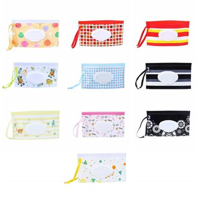 Diaper Pails Refills Eco-friendly Wet Wipe Pouch Dispenser Travel Clutch Pouch Holder Refillable Portable Baby Wipes Container