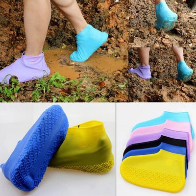 Kids Adult Rain Shoe Covers Women Men Overshoes Shoe Covers Waterproof Foldable Skid-proof Shoes Accessories Dust Covers