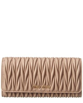 Miu Miu Large Matelasse Leather Continental Wallet