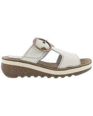 FLY London Tute Leather Wedge Sandal