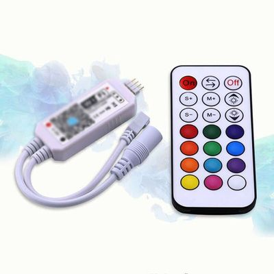 Mini Wifi RGB LED Controller DC12V With RF 21Key Remote Strip Light 144W Durable