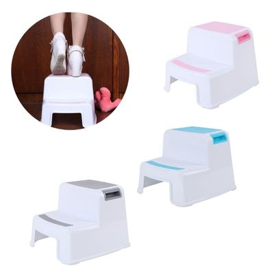 Multifunctional Children Toilet Pedestal Stool Bathroom Plastic Thick Step Stool