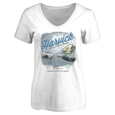 Kevin Harvick Women's Authentic Fan V-Neck T-Shirt - White