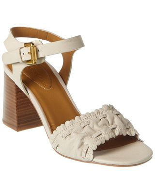 See by Chloe Gathered Detail Leather Sandal