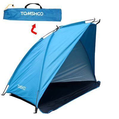 TOMSHOO Single Layer Beach Tents 2 Persons Camping Tent Anti UV Sun Shelters Awning Shade Outdoor Tent for Fishing Picnic Hiking