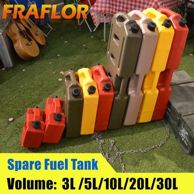 3L 5L 6L 10L Red Black Green Fuel Barrels Gas Spare Container Anti-static Jerry Can Polaris Fuel Gasoline Diesel Tank Jerrycan