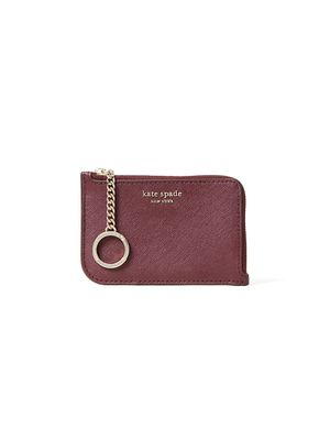 Kate Spade New York Medium L-Zip Coated Leather Card Holder