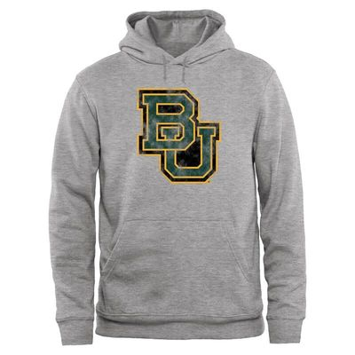 Baylor Bears Big & Tall Classic Primary Pullover Hoodie - Ash