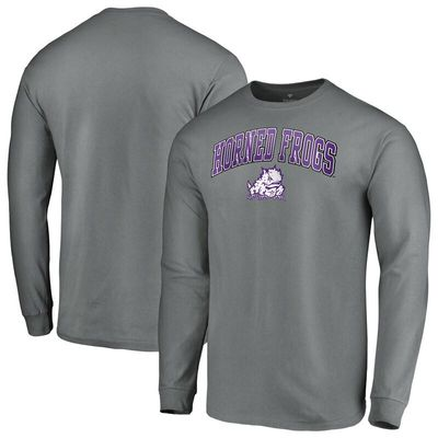 TCU Horned Frogs Fanatics Branded Campus Long Sleeve T-Shirt - Charcoal