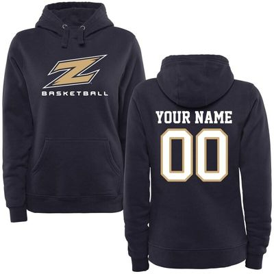 Akron Zips Women's Personalized Basketball Pullover Hoodie - Navy