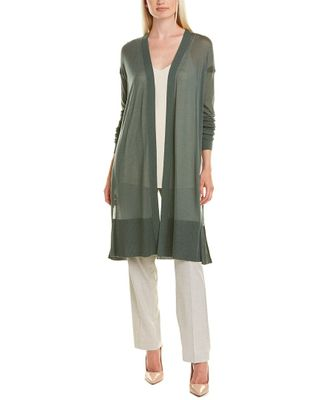 Lafayette 148 New York Long Sheer Cardigan