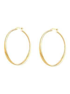 Saks Fifth Avenue Made in Italy 14K Yellow Gold Twisted Hoop Earrings