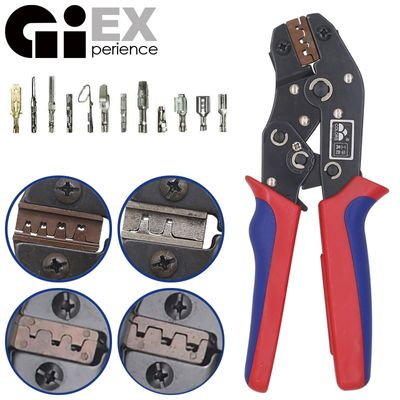 DuPont Terminals Crimp Pliers And Interchangeable Dies Wire Crimper Crimping Tools Ratcheting 7Inch SN-28B SN-48B SN-2 SN-01BM