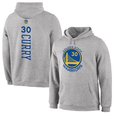 Stephen Curry Golden State Warriors Back Pullover Hoodie - Heathered Gray
