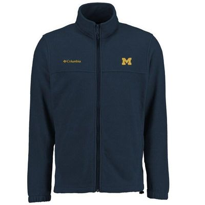 Michigan Wolverines Columbia Big & Tall Flanker II Full Zip Jacket - Navy