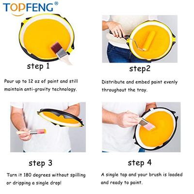 TopFeng Paint2It Pro - Anti Gravity Paint Tray Palette. Premium Multipurpose Kit for Easy Painting. No Spills, No Drips, No Mess