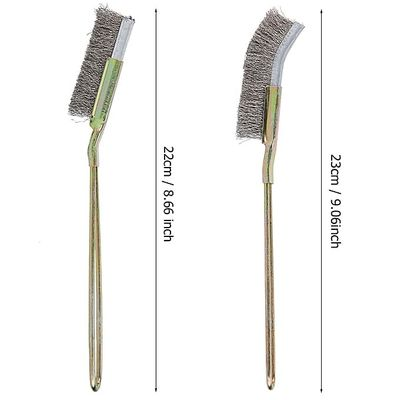 Bonsai Brush, A Tool For Cleaning The Garden With Bent Steel Curved / Straight