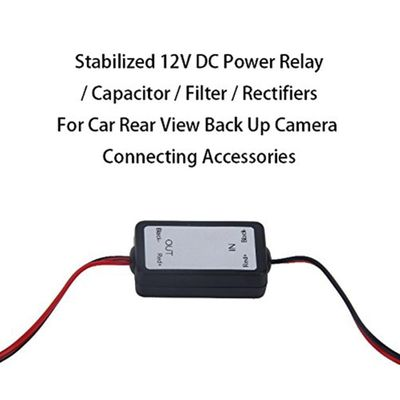 12V DC Power Relay Capacitor Filter Connector Rectifier for Car Rear View Backup Camera Rectifier Auto Car Camera Filter #303049