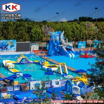 Inflatable Water Park Floating Island, Inflatable Water Playground Park