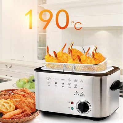 220V 1200W Air Fryer Household Electric Fry Smokeless Multifunction Fried Chicken Legs  Potato Stainless steel frying 1.5L