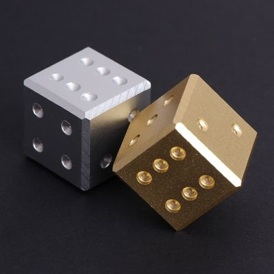 Metal Dice Gold Silver Pure Color Aluminum Club Bar Drinking Playing Game Tool 16mm