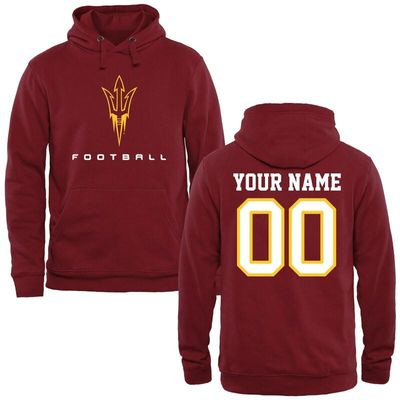 Arizona State Sun Devils Personalized Football Pullover Hoodie - Maroon