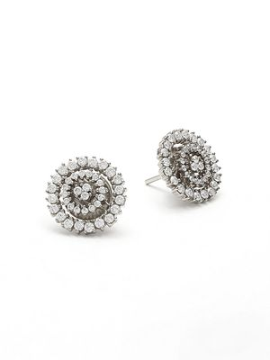 Hueb 18K White Gold & Diamond Stud Earrings