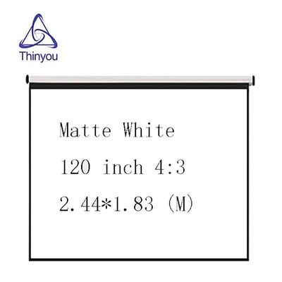 Thinyou 120inch 4:3 Matte White HD Wall Mounted Projection Screen Canvas LED Projector Screen For Home Theater