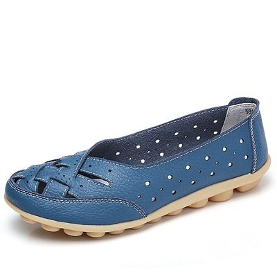 EUR 35-44 Women Loafers Hollow Flat Shoes Leather Shoes
