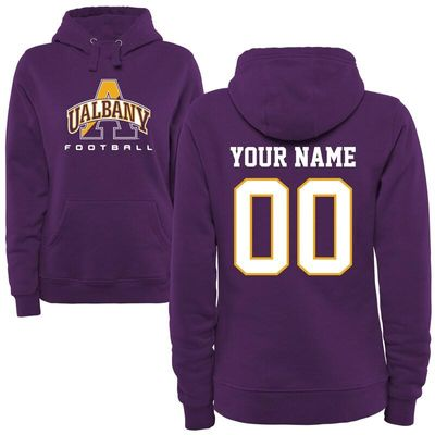 Albany Great Danes Women's Personalized Football Pullover Hoodie - Purple