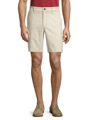 Hickey Freeman Buttoned Cotton-Blend Shorts