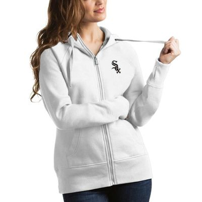 Chicago White Sox Antigua Women's Victory Full-Zip Hoodie - White