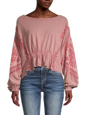 Free People Throwback Print Top