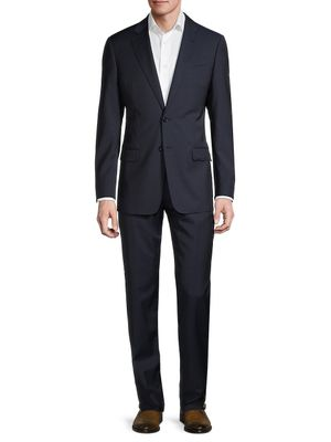 Armani Collezioni Standard-Fit Check Virgin Wool Suit