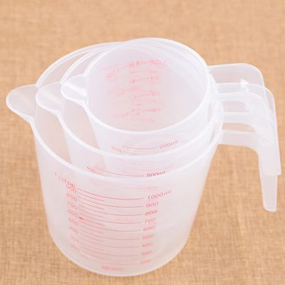 250/500/1000ML Plastic Measuring Cup Jug Pour Spout Surface Kitchen Tool Supplies Quality cup with graduated quality Kitchen