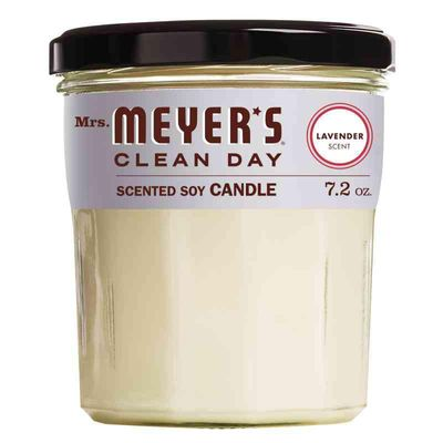 Mrs. Meyer's Clean Day Scented Soy Candle, Lavender Scent, 7.2 ounce candle