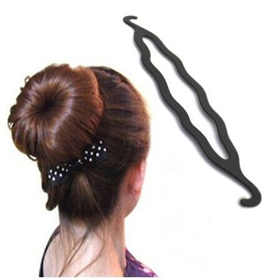 20cm Hight Quality Women Magic Plastic Hairdisk Hair Device Donut Quick Messy Bun Updo Hair styling Accessories