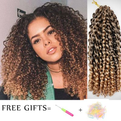 Marley Curly Crochet Braids Hair Extensions for Women Ombre Braiding 12
