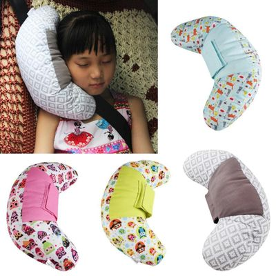 Car Soft Headrest Seatbelt Cushion Baby Car Seat Head Support Shoulder Seat Belt Pad Car Neck Pillow with PP Cotton for Kids