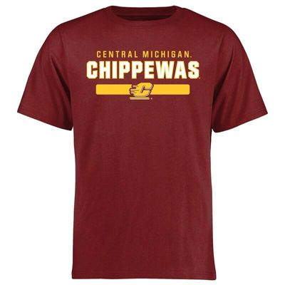 Central Michigan Chippewas Team Strong T-Shirt - Maroon