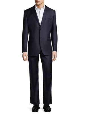 Saks Fifth Avenue Made in Italy Two-Piece Classic FitHerringbone Wool Suit