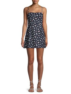 French Connection Floral-Print Mini Dress